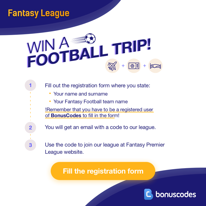 bonuscodes fantasy premier league win